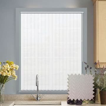 Multiple Vertical Blind Deal | Herringbone white or magnolia