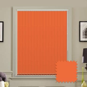 Orange Unicolour Rayon 5 inch Vertical Blinds - made to measure