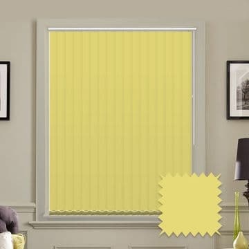 Pale Green Made to measure vertical blinds in Carnival Spring Green plain FR / Antibacterial fabric