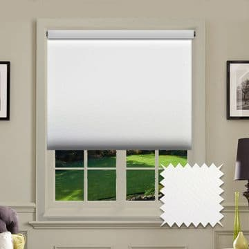 PVC Blackout Plain White  Roller Blind
