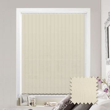Senna Cream Vertical Blinds - Made to Measure vertical blind in Cream