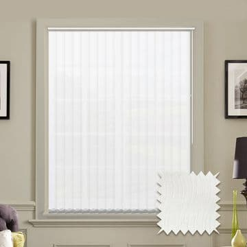 Senna White Vertical Blinds - Made to Measure vertical blind in White