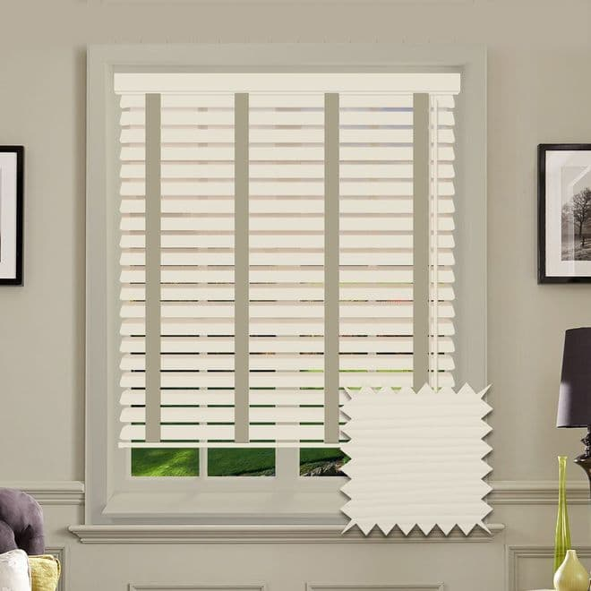 Sunwood Faux Wood Venetian Blinds in Mirage With Tapes - Just Blinds