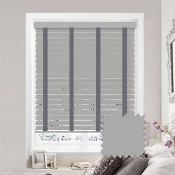 Sunwood Faux Wood Venetian Blinds with Tapes in Mission Fine Grain