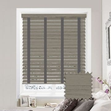 Sunwood Faux Wood Venetian Blinds with Tapes in Stratus