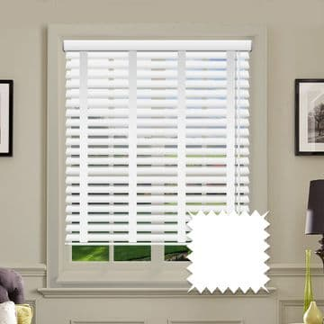Sunwood Faux Wood Venetian Blinds with Tapes in True