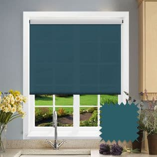 Teal Roller Blind - Astral Mambo