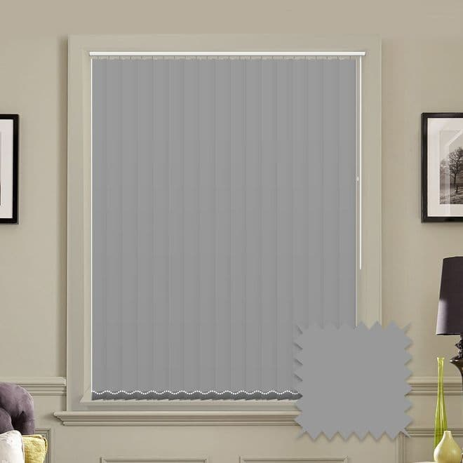 Unicolour Ash 5 inch Vertical Blinds - made to measure - Just Blinds