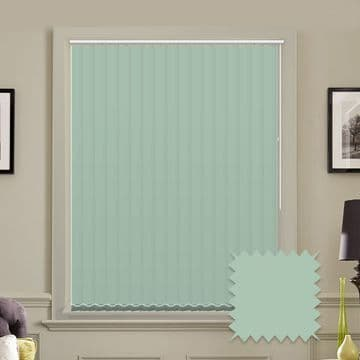 Unicolour Atmosphere 5 inch Pale green Vertical Blinds - made to measure