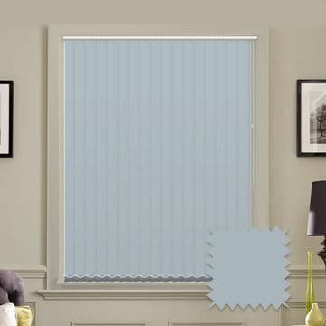 Unicolour Batik 5 inch Light Blue Vertical Blinds - made to measure