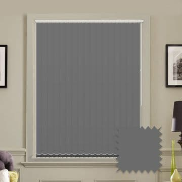 Unicolour Charcoal 5 inch Vertical Blinds - made to measure