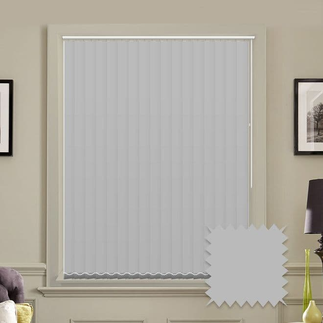 Unicolour Dove Grey 5 inch Vertical Blinds - made to measure - Just Blinds