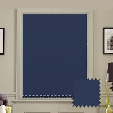 Unicolour Lapis 5 inch Vertical Blinds - made to measure