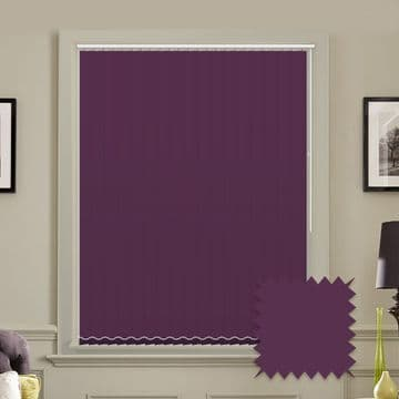 Unicolour Mulberry 5 inch Purple Vertical Blinds - made to measure