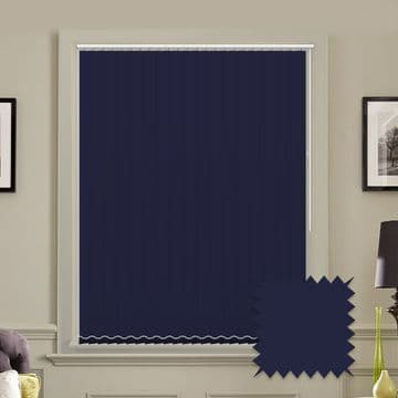 Unicolour Navy 5 inch Navy Blue Vertical Blinds - made to measure
