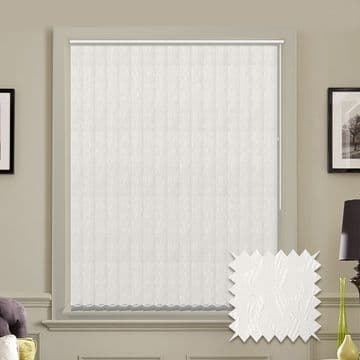Vertical blinds - Made to Measure vertical blind in Cleo White