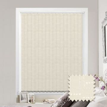 Vertical blinds - Made to Measure vertical blind in Malimo Oyster