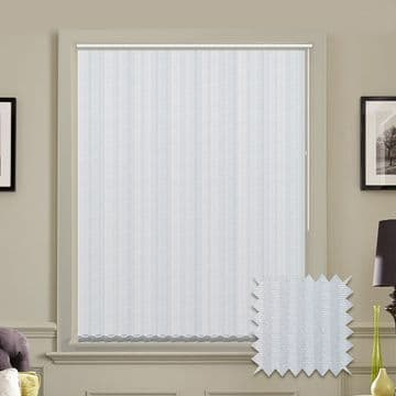 Vertical blinds - Made to Measure vertical blind in Rossini White