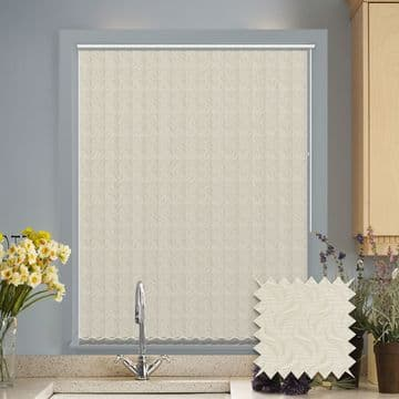 Vertical blinds - Made to Measure vertical blind in Tern Cream Blackout