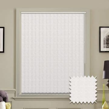 Vertical blinds - Made to Measure vertical blind in Tern White