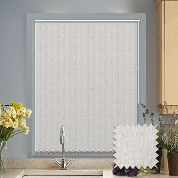 Vertical blinds - Made to Measure vertical blind in Verona White