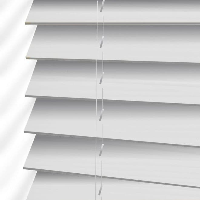 Cheapest White Faux Wood Venetian Blinds - Just Blinds