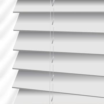 White Hollywood Blinds Faux Wood Venetian in True White