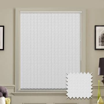 White Vertical Blinds - Made to Measure vertical blind in Sea Shell White