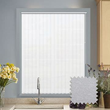 White Vertical Blinds - Made to Measure vertical blind in Willow White