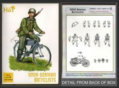 HaT 1.72 scale (20mm) 8119 WWII German Bicyclists (x 12 models)