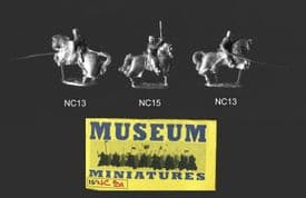 Museum Miniatures 15mm Crusader NC91 Crusader Command (x 3 mtd figs)