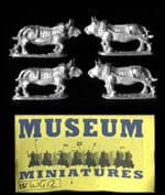 Museum Miniatures 15mm WG12 Draught Oxen (x 4)