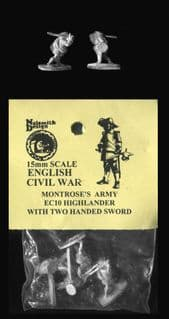 Naismith Design 15mm ECW Montrose Army EC10 Highlander with Claymore & Targe (6)