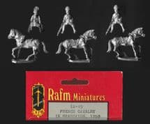 Rafm 25mm Flint & Feather IN45 French Cavalry in Bearskins (x 3 figs mtd figs)