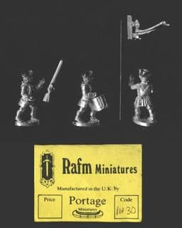 Rafm 25mm Flint & Feather (SYW) IN30 British North American Infantry Command 1759 (x 3 fig)