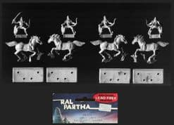 Ral Partha 25mm Fantasy 02-219 Horse Lords – Light Horse Archers (x 4 mtd figs)