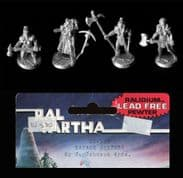 Ral Partha 25mm Fantasy 02-530 Savage Sisters – Female Mercenaries (x 4 figs)