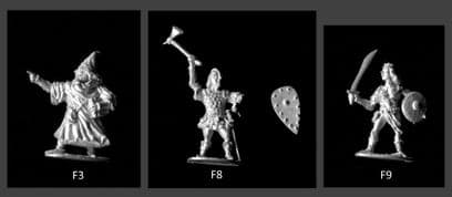 Standard Games 25mm Fantasy: Adventure Party (Wizard, Male & Female Warriors)