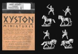 Xyston 15mm Ancients ANC20047 Northern Thracian Nobles, Mounted (4 mtd figs)