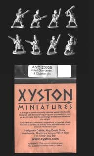 Xyston 15mm Ancients ANC20088 Indian Guardsmen & Clubmen (8 figs)
