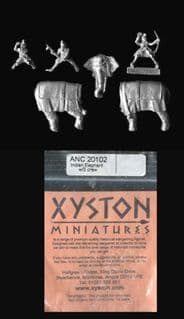 Xyston 15mm Ancients ANC20102 Indian Elephant with 3 Crew (1)