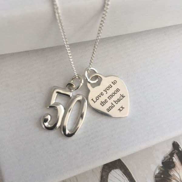 50th birthday gift for a niece - FREE ENGRAVING