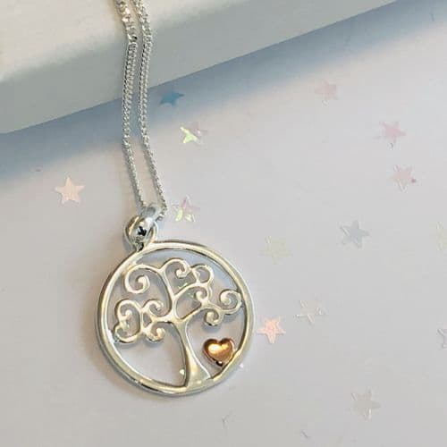 60th birthday gift - silver tree of life necklace