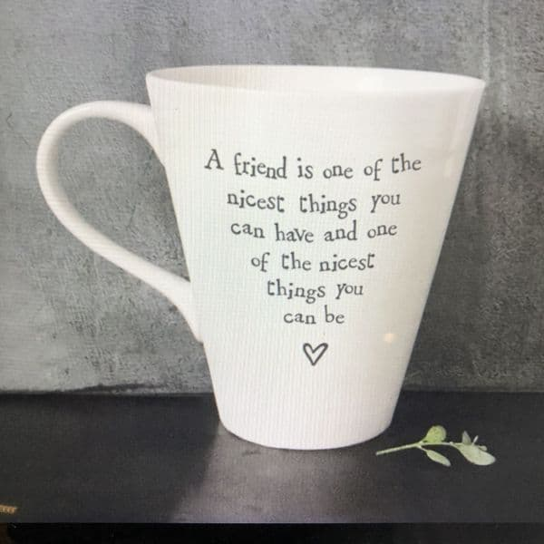 A friend is one of the nicest things - gift mug