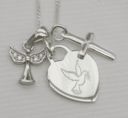 Confirmation jewellery gift Holy Spirit necklace - FREE ENGRAVING