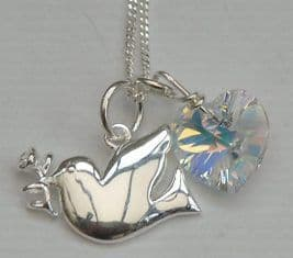 Confirmation jewellery gift - silver dove
