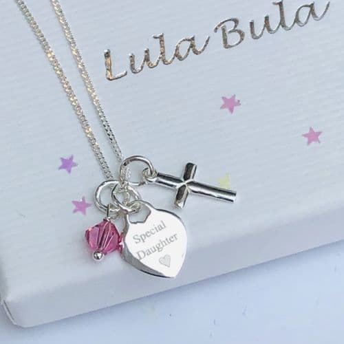 First Holy Communion jewellery gift for a granddaughter - FREE ENGRAVING