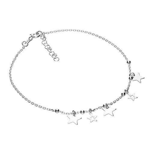 Silver ankle chain -stars