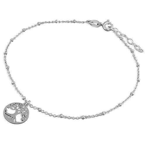 Silver ankle chain - tree of life