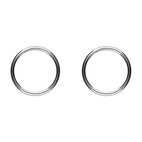 Silver eternity circle earrings